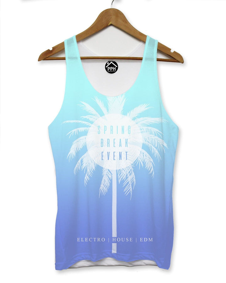 Spring Break Event Blue Vest Mens Palm Party Holiday Singlet Sleeveless Tank 105
