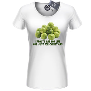 Sprouts are for Life Funny Christmas T Shirt Funny Tee Food Festive Vegan CH41
