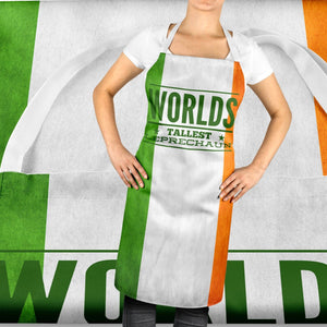 Worlds Tallest Leprechaun Funny Ireland Apron Irish Bar St Patricks Day ST109