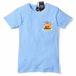 Retro Football 1960 - 1970 Manchester City T Shirt Sky Blue Tee Blue Moon 585