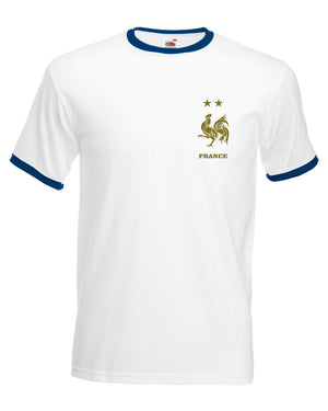 newest collection da606 93c2c Retro French GOLD PRINT Football Shirt World Cup France Vintage 2018  Winners - The Clothing Shed
