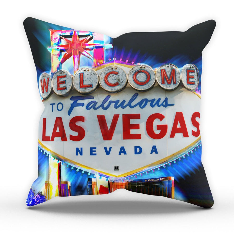 Las Vegas Sign Neon Pillow Cushion Pad Cover Case Bed Home Stag Do Present USA