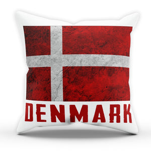 Denmark National Flag Pillow Cushion Cover Case Bed Room Present Gift Country