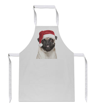Pug Christmas Apron 134 Sublimation Present Funny Gift Cook Chef Food Novelty