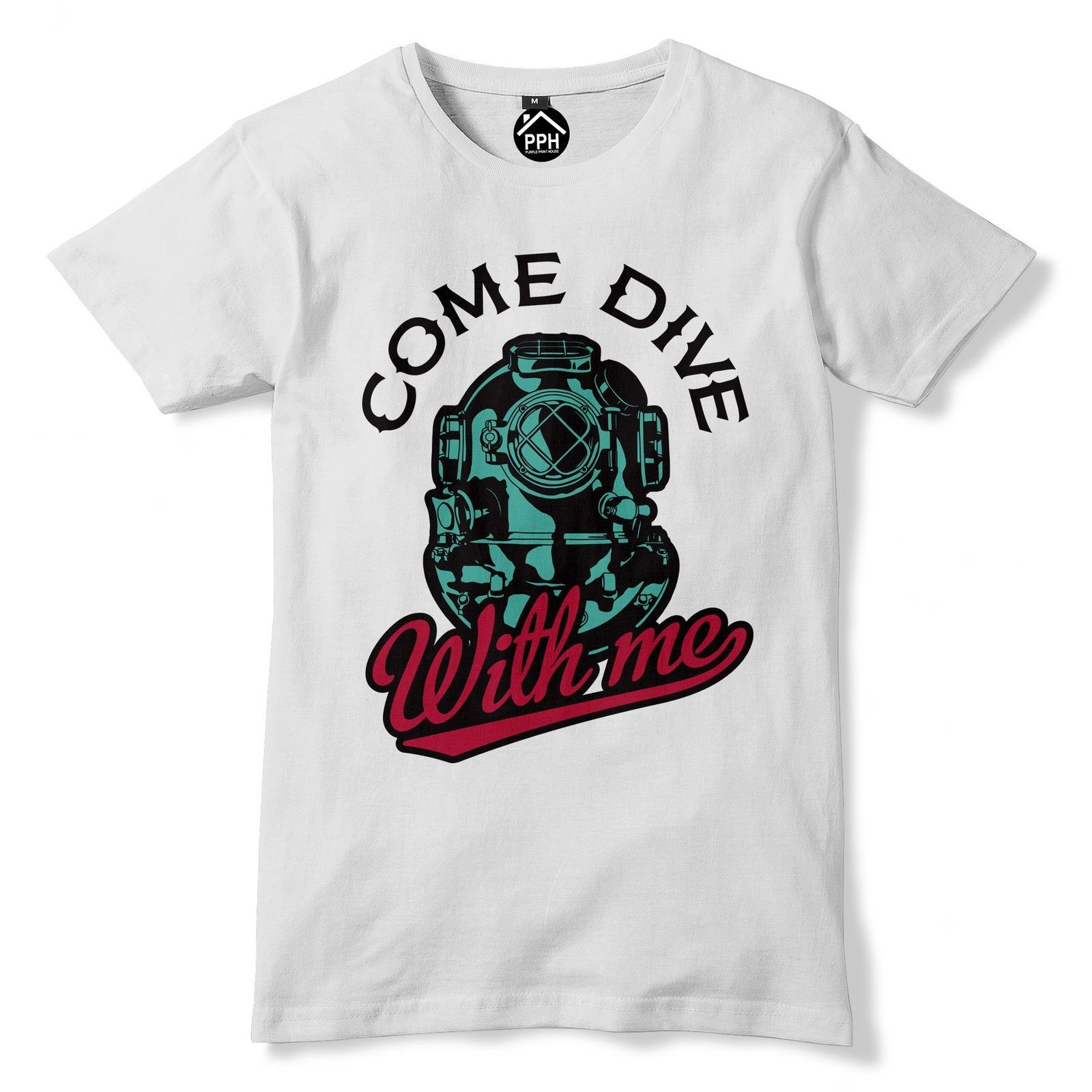 6acb5ce0bd Come Dive With Me Funny T Shirt Deep Sea Diving tshirt top Scuba Holiday 136