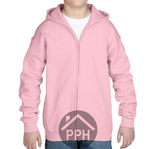 Childrens Gildan Zipped Hoodie Girls Boys Hoody Top Sweater School Uniform Coat