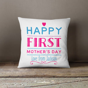 Happy First Mother's Day Love From Personalised Cushion Custom Cute EM219
