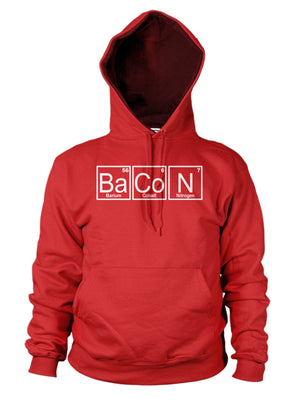 Bacon Periodic Table Funny Hoodie Hoody Mens Womens Kid Science Geek Chemical