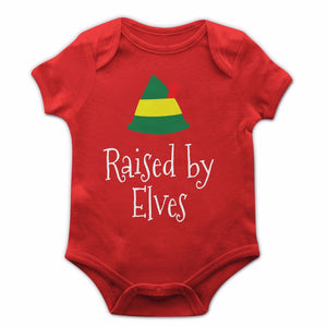 Raised By Elves Baby Grow Cute New Born Son Daughter Gift Present Elf Boy JC28