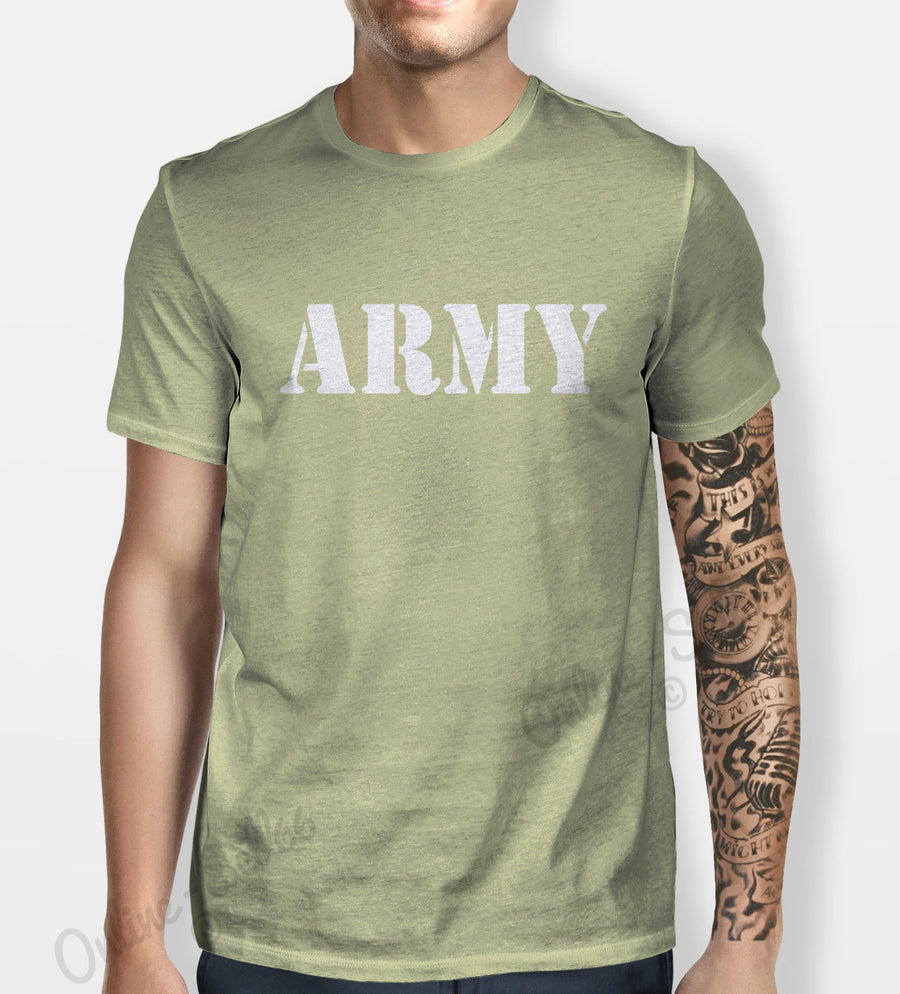 Army Tshirt Mens Womens Shirt Tee Swag Hipster Camouflage Camo War Navy Guns