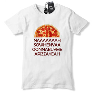 Na So When Ya Buy PIZZA Funny T Shirt Pepperoni King Foodie Lion Tshirt 511