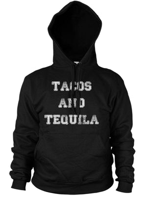 Tacos and Tequila Funny Mexican Hoody Hipster Moustache Mens Hoodie Womens