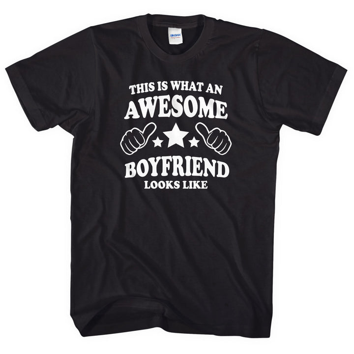 This is what an awesome Boyfriend looks like t-shirt Valentines Day Gift L178