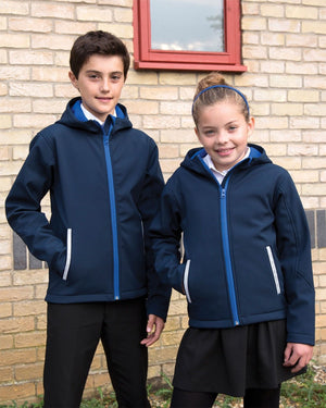 Result Core Junior Hooded Softshell Jacket School Uniform Coat Boys Girls R224JY