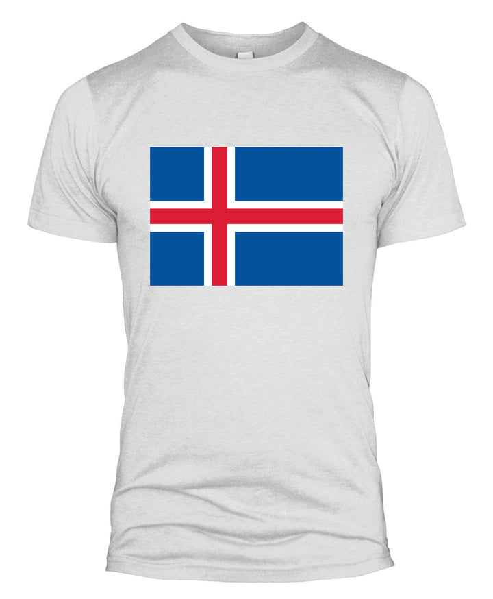 Iceland Flag T Shirt Football Support World Cup Icelandic Top Kit Men Women L254