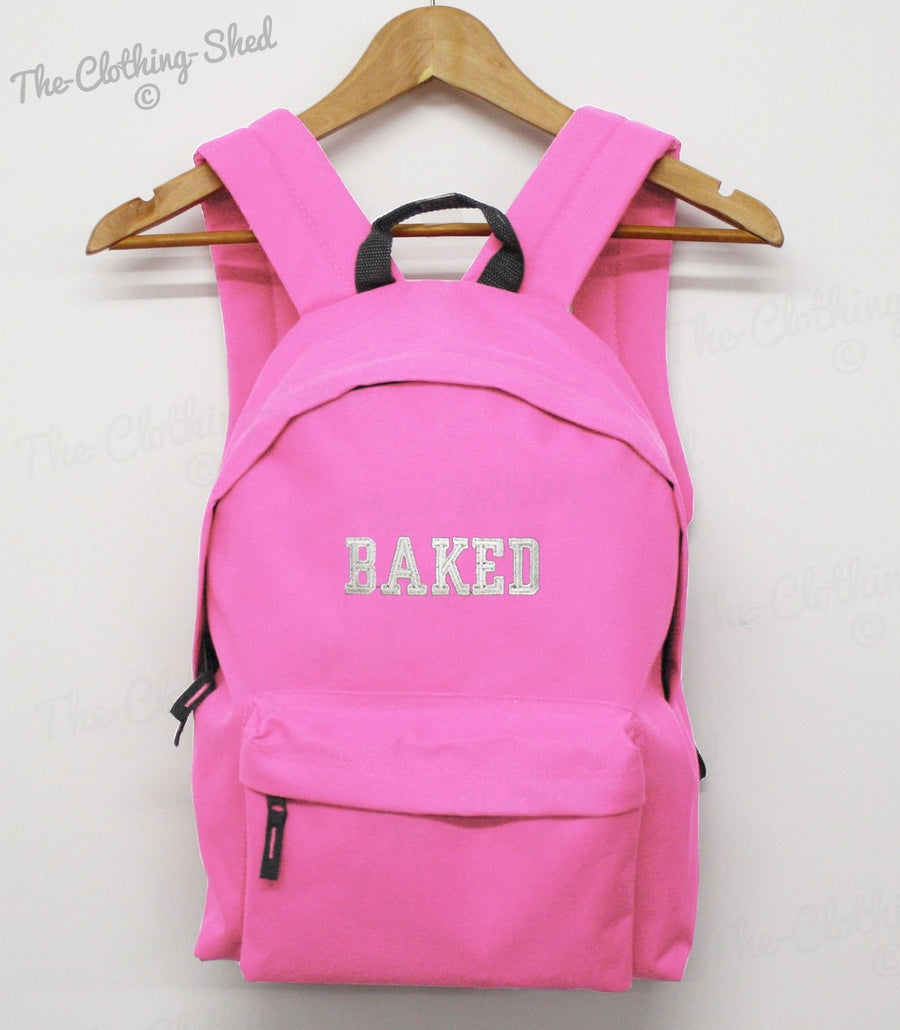 BAKED SLOGAN COLLEGE BAG BACK PACK SCHOOL SWAG DOPE HIPSTER STREETWEAR RUCK SACK
