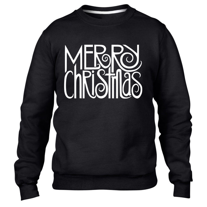 MERRY CHRISTMAS SWEATER XMAS JUMPER TEXT SECRET SANTA WARM NOVELTY IDEA MEN KIDS