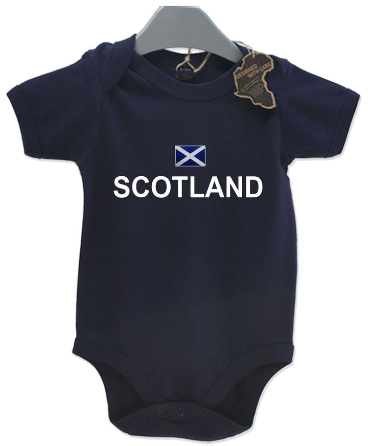 Scotland Gift Baby Grow Birthday Present Unisex BabyGrow Playsuit Football Rugby