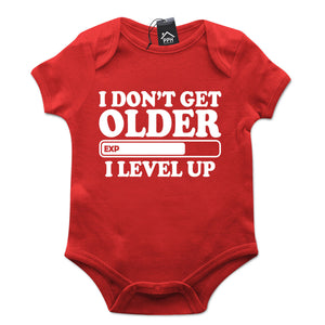 Don't Get Older I Level Up Gamers Gaming Babygrow Gift Baby Grow Newborn 513