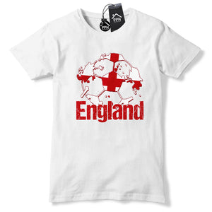 England Football T Shirt Mens Boys Tshirt  Training Three Lions Gift Euros B40