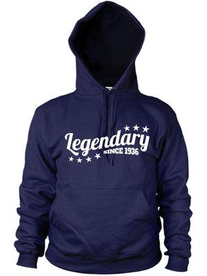 Legendary Since 1936 Hoodie Gift Birthday 80 81 years old Present Dad Women Mens