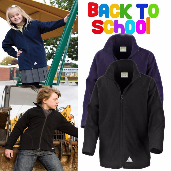 Result Core Children's Micron Fleece Jacket School Uniform Coat Jumper BOYS GIRL