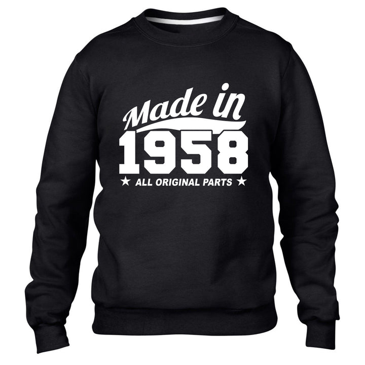 MADE IN 1958 MADE ALL ORIGINAL PARTS SWEATER MENS WOMENS BIRTHDAY PRESENT FUNNY