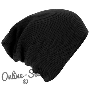Knitted Woolly Winter Mens Ladies Oversized Slouch Beanie Cap Hat skateboard
