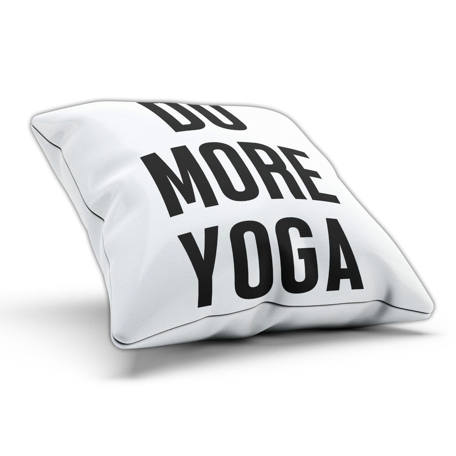 Do More Yoga Funny Fitness Gym Pillow Cushion Cover Case Present Gift Bed