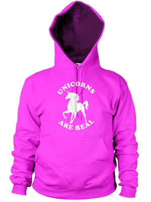 UNICORNS ARE REAL HOODIE FANTASY FUNNY CREATURE MAGICAL MEN WOMEN GIRL KIDS GIFT