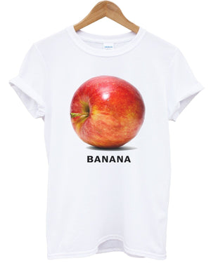 Banana Apple T Shirt Funny Joke Top Urban Hipster Fresh Apparel Shop Man Woman