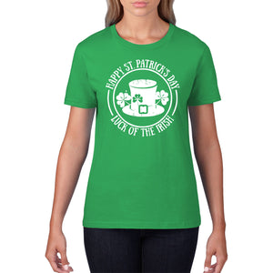Luck of the Irish Green T Shirt St Patricks Day TShirt Ireland T-Shirt Flag P34