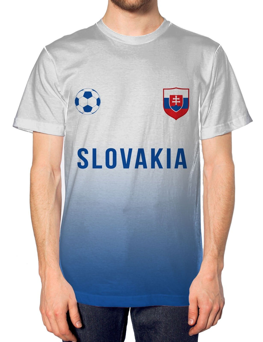 Slovakia Home Football Nation Fade Tshirt Mens Shirt Jersey Sport World Euros