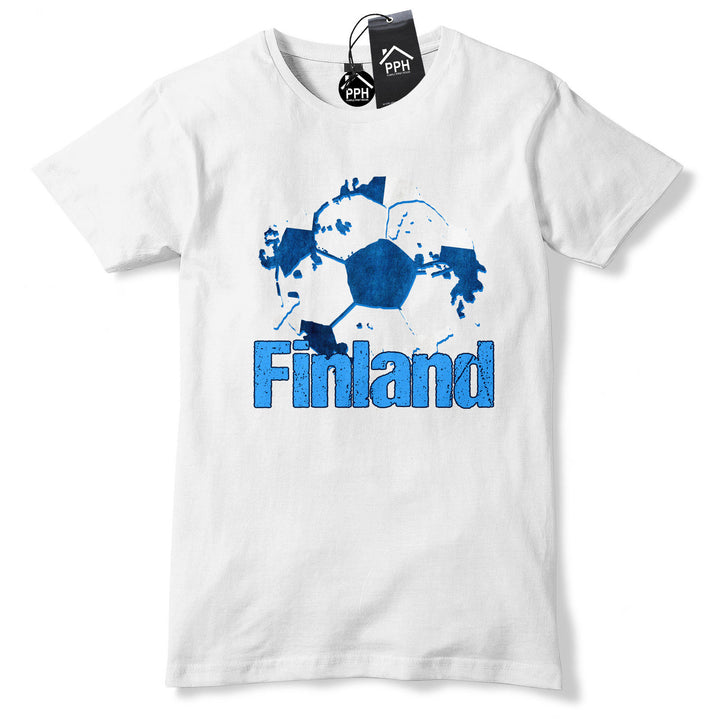 Finland Football Fans T Shirt Supporters Shirt Tee Top Finish Gift World Cup B40