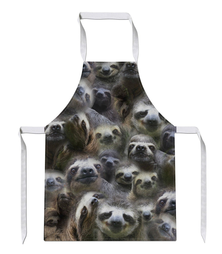 Sloth All Over APRON Funny Gift Present Novelty Lazy Birthday Christmas Chef