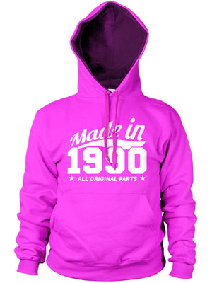 MADE IN 1990 ALL ORIGINAL PARTS HOODIE MENS WOMENS FUNNY PRESENT BIRTHDAY GIFT