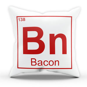 Bacon Periodic Table Funny Pillow Cushion Pad Cover Case Bed Breaking Comedy
