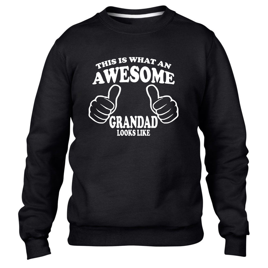 THIS IS WHAT AN AWESOME GRANDAD LOOKS LIKE SWEATER JUMPER GIFT FATHERS DAY XMAS