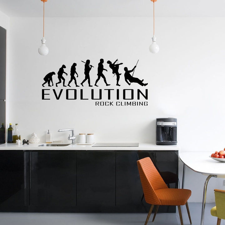 Evolution Of Rock Climbing Wall Sticker Vinyl Decal Decors Art Climb Climber