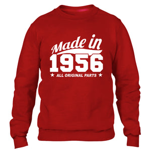 MADE IN 1956 ALL ORIGINAL PARTS SWEATER MENS WOMENS BIRTHDAY GIFT FUNNY FAMILY