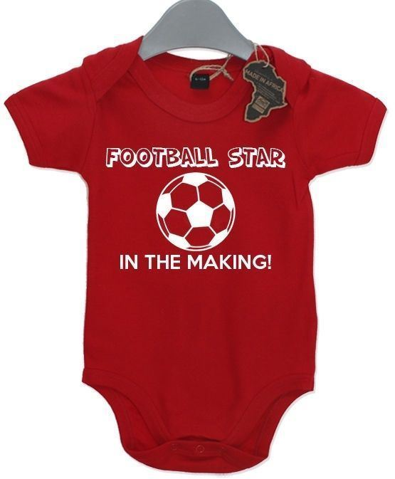 Football Star In The Making BabyGrow Present Funny Unisex Gift Birthday Baby Kid