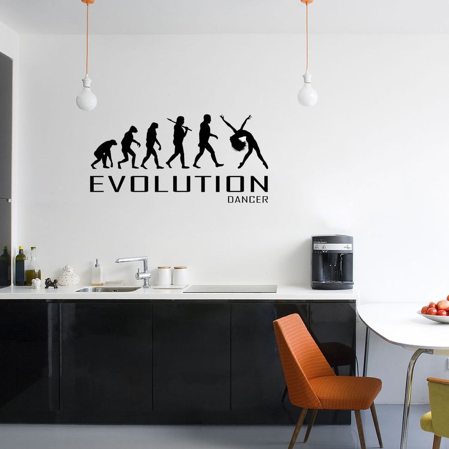 Evolution Of Dancer Wall Sticker Vinyl Decal Decors Art Dancing Dance Perform