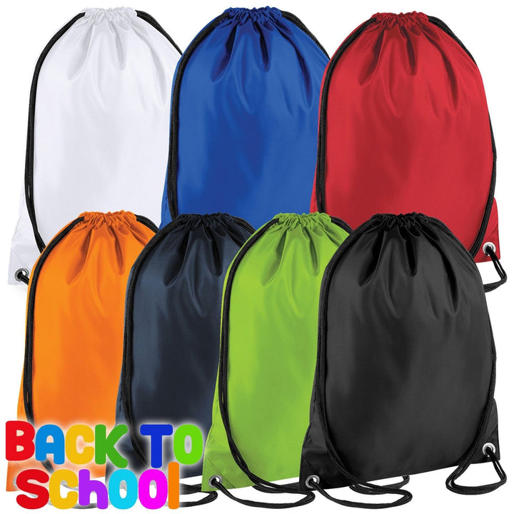 Drawstring Backpack Waterproof  Bag Gym PE DUFFLE School Kids Boys Girls Sack