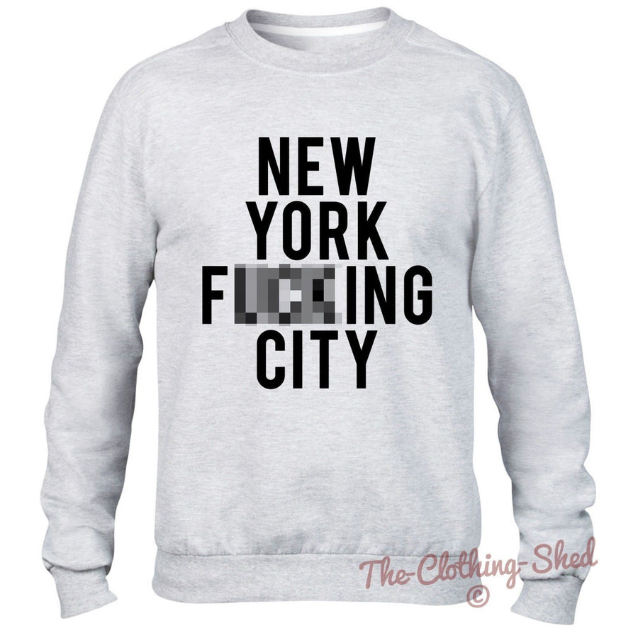 New York F***ing City Sweatshirt Men Women Hipster Baggy Jumper Sweater