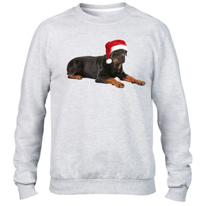 Rottweiler Christmas Hat Sweater Santa Dog Pets Kids Children Present Gift Lover