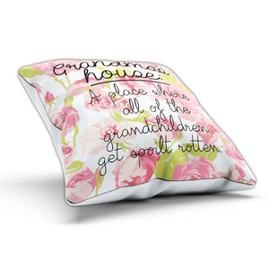 Grandma's House Cushion Pillow A Place Grandchildren Spoil Present Birthday Mum