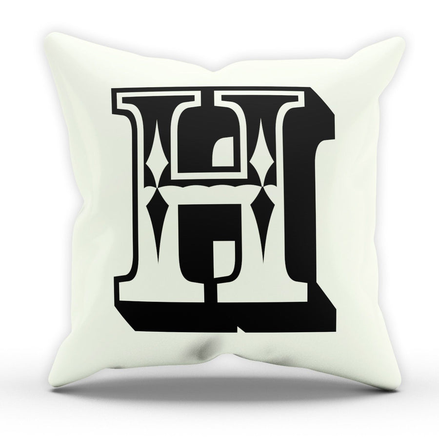 H Rose Letter Cushion Pillow Personalised Home Gift Present Novelty Furnishings