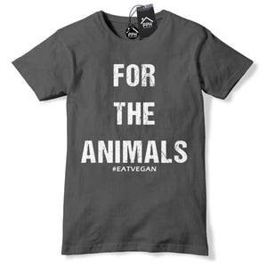 For the Animals Vegan T Shirt Funny Vegetarian Food Tshirt Geek Meat Free 619