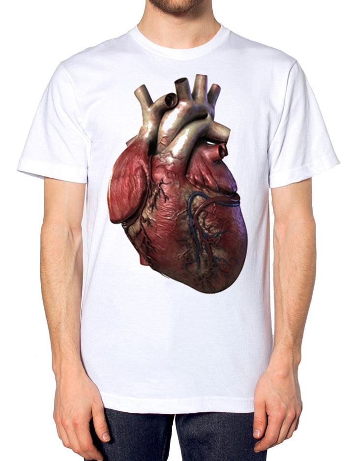 Real Heart Halloween T Shirt Scary Butcher Easy Costume Freaky Fancy Dress Organ