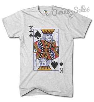 King of Spades Mens Card tshirt Blackjack Winner Holiday top Casino Gambling